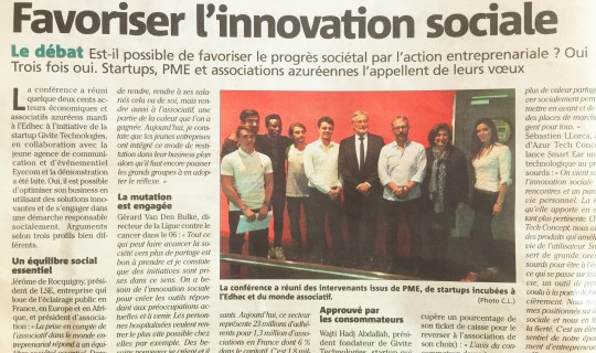 Conférence sur l'innovation sociale - Événement organisé par EYECOM